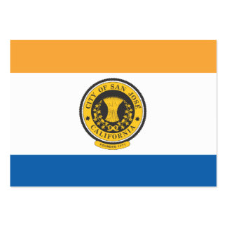 City of San Jose flag Large Business Cards (Pack Of 100)