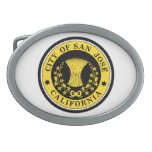 City of San Jose seal Oval Belt Buckles