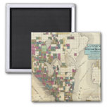 City Of Seattle And Environs 2 Inch Square Magnet