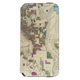 City Of Seattle And Environs iPhone 6/6s Wallet Case