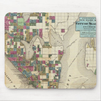 City Of Seattle And Environs Mouse Pad