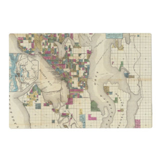 City Of Seattle And Environs Placemat