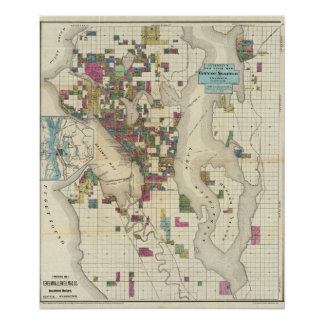 City Of Seattle And Environs Print