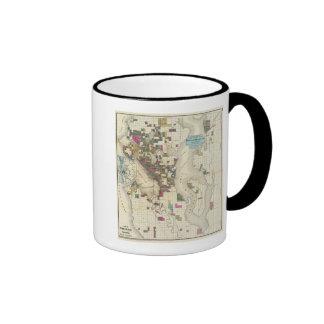 City Of Seattle And Environs Ringer Mug
