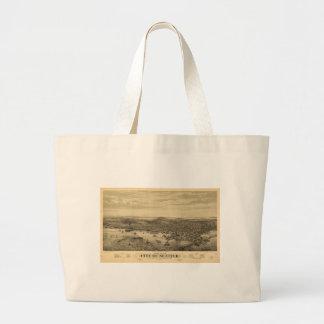 City of Seattle Puget Sound Washington Map (1878) Large Tote Bag
