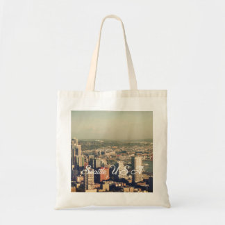 City of Seattle. View from city tower. Landscape Bags
