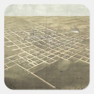 City of Sedalia Pettis County Missouri (1869) Square Sticker