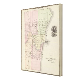 City of Sheboygan, county seat of Sheboygan Co Canvas Print