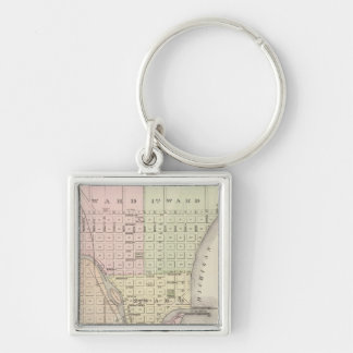 City of Sheboygan, county seat of Sheboygan Co Silver-Colored Square Keychain