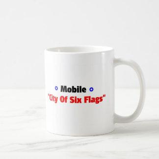City of six flags coffee mug