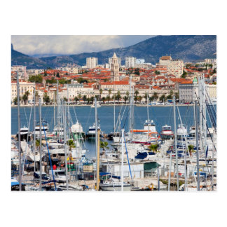 City of Split Marina and Old Town in Croatia Postcard