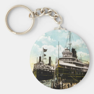 City of St. Ignace & City of Cleveland, D&C Line Keychain