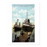 City of St. Ignace & City of Cleveland, D&C Line Postcard