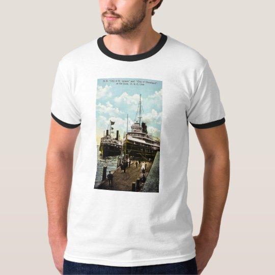 City of St. Ignace & City of Cleveland, D&C Line T-Shirt