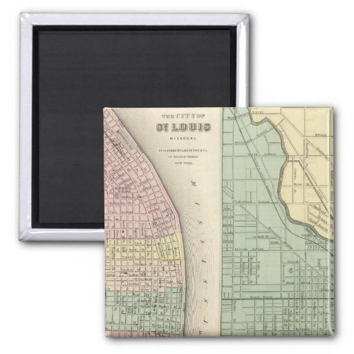 City of St Louis, Missouri City of Chicago 2 Inch Square Magnet