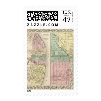 City of St Louis, Missouri City of Chicago Postage