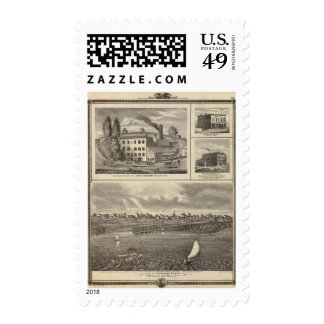 City of Storm Lake brewery, Muscatine bldg Stamps