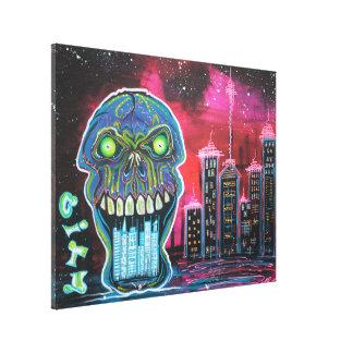 City of Strange Stretched Canvas Print