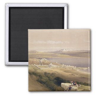City of Tiberias on the Sea of Galilee 2 Inch Square Magnet