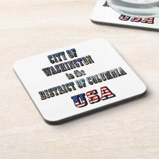 City of Washington in the District of Columbia USA Drink Coaster