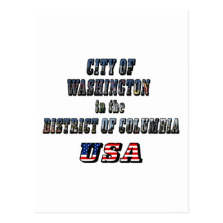 City of Washington in the District of Columbia USA Post Cards