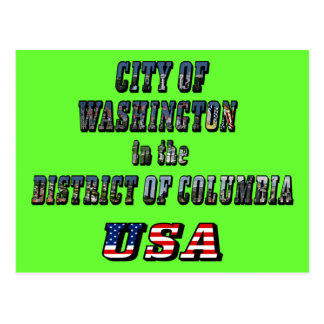 City of Washington in the District of Columbia USA Postcards