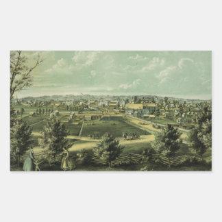 City of Waukesha Wisconsin from 1857 Rectangular Sticker