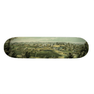 City of Waukesha Wisconsin from 1857 Skate Deck