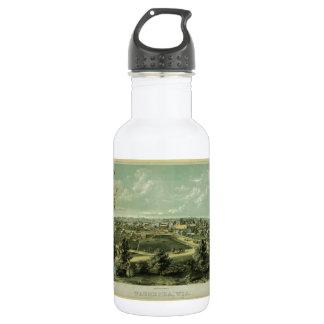 City of Waukesha Wisconsin from 1857 Water Bottle