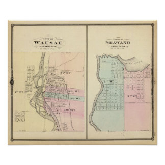 City of Wausau, Village of Shawano Poster