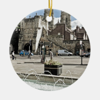 City of York Exhibition Square with the minster Ceramic Ornament