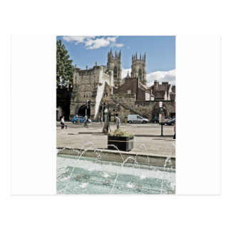 City of York Exhibition Square with the minster Postcard