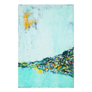 City on a hill - Abstract Landscape Art Poster