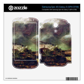 City on a hill in stormy weather by Rembrandt Samsung Epic Decals