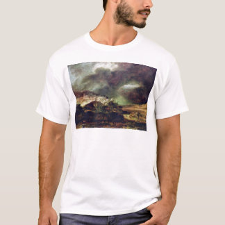 City on a hill in stormy weather by Rembrandt T-Shirt