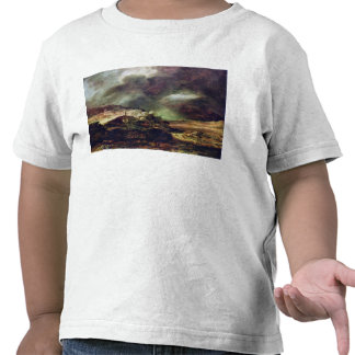 City on a hill in stormy weather by Rembrandt Tee Shirts