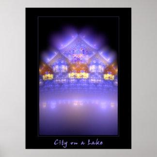 City on a Lake Print
