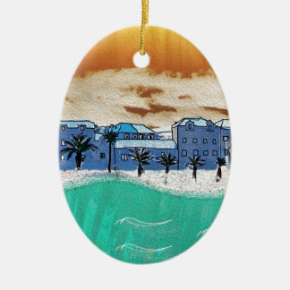 City on the sea Supetar Ceramic Ornament