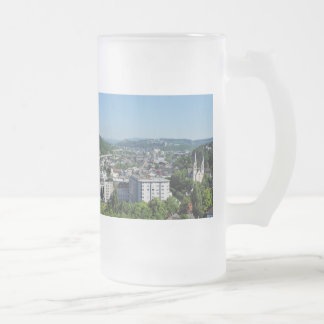 City opinion of victories frosted glass beer mug