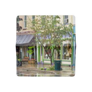City - Owego NY - On a rainy day Checkbook Cover