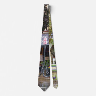 City - Owego NY - On a rainy day Neck Tie