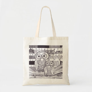 City Owls Grocery Bag