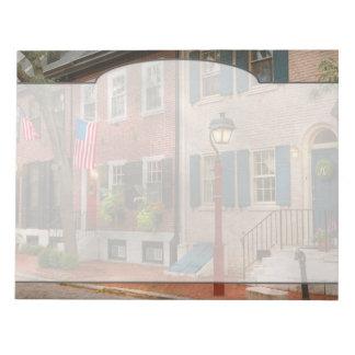 City - PA Philadelphia - American townhouse Notepad