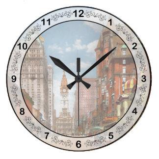 City - PA Philadelphia - Broad Street 1905 Large Clock
