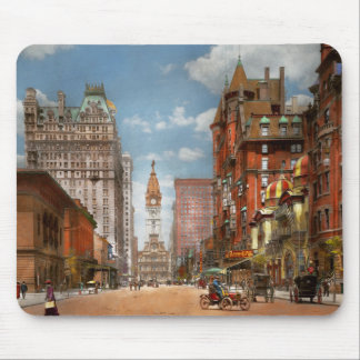City - PA Philadelphia - Broad Street 1905 Mouse Pad