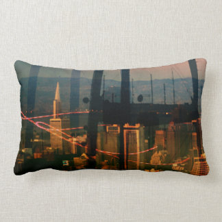City Panoramax San Francisco scape Throw Pillows