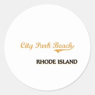City Park Beach Rhode Island Classic Classic Round Sticker