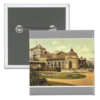 City park, Carlsbad, Bohemia, Austro-Hungary class Pinback Button