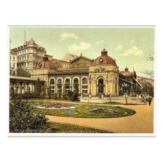 City park, Carlsbad, Bohemia, Austro-Hungary class Postcard