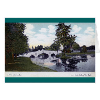 City Park, New Orleans, Louisiana 1912 Vintage Greeting Card